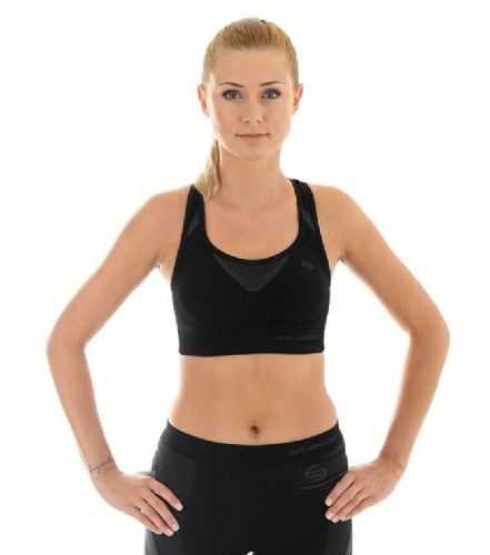 Brubeck Fitness - Ladies Crop Sports Top -  Black - RRP £21 Our Price